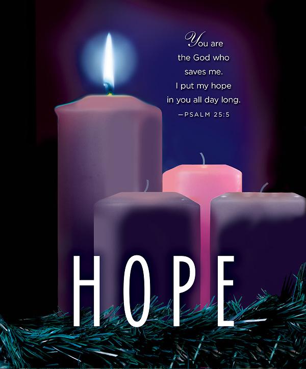 hope advent candle sunday 1 bulletin large pkg of 50. Black Bedroom Furniture Sets. Home Design Ideas