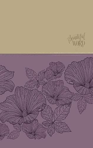 Niv Beautiful Word Coloring Bible Large Print Imitation Leather Purple Tan Cokesbury