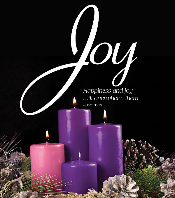 joy advent candle sunday 3 bulletin large pkg of 50. Black Bedroom Furniture Sets. Home Design Ideas