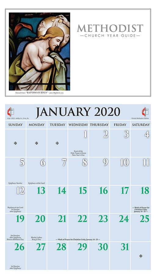 Methodist Liturgical Calendar 2020 Ashby United Methodist Calendar 2020   Cokesbury