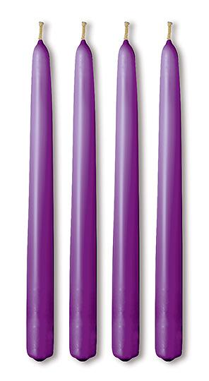 advent candle 12 taper purple set of 4 cokesbury. Black Bedroom Furniture Sets. Home Design Ideas