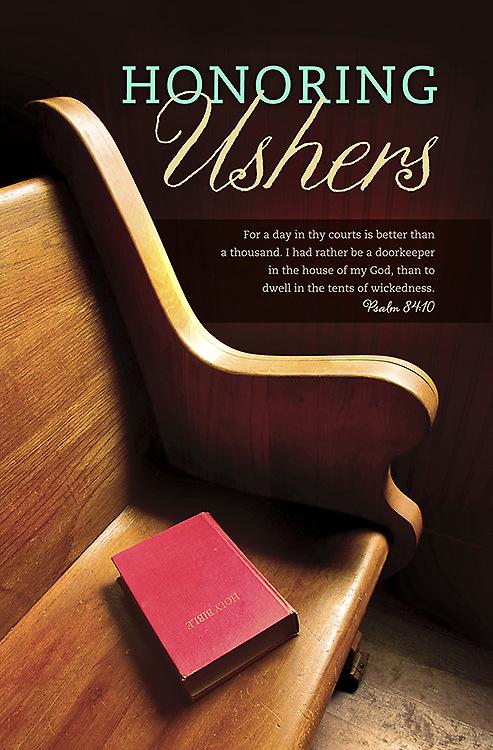 Usher Anniversary Bulletin - Psalm 84:10 (Pack of 100 ...