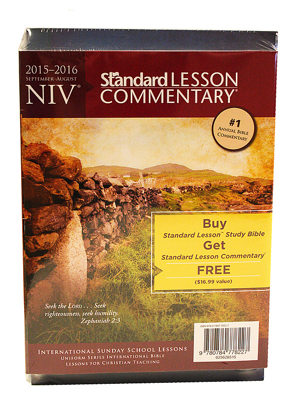 Standard Lesson NIV Study Bible Hardcover