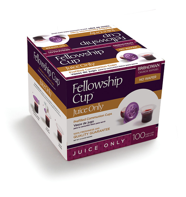 Fellowship Cup® Juice Only Prefilled Communion Cups - Box of 100