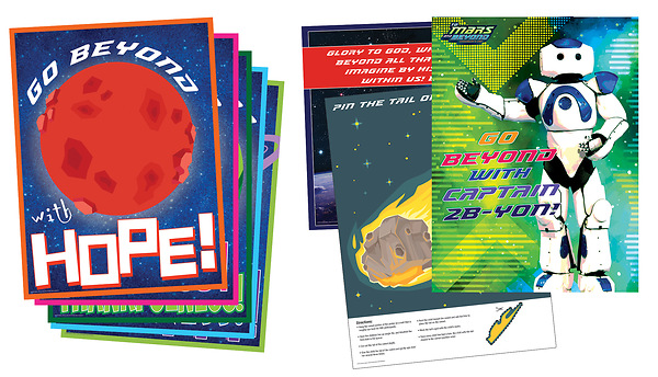Vacation Bible School (VBS) To Mars and Beyond Decorating Poster Pak