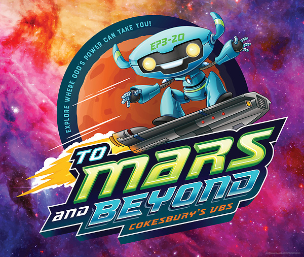 Vacation Bible School (VBS) To Mars and Beyond Large Logo Poster