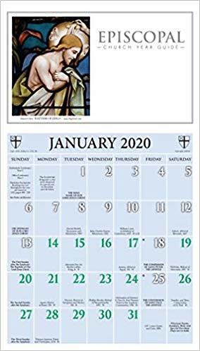 Episcopal Liturgical Desk Calendar 2020