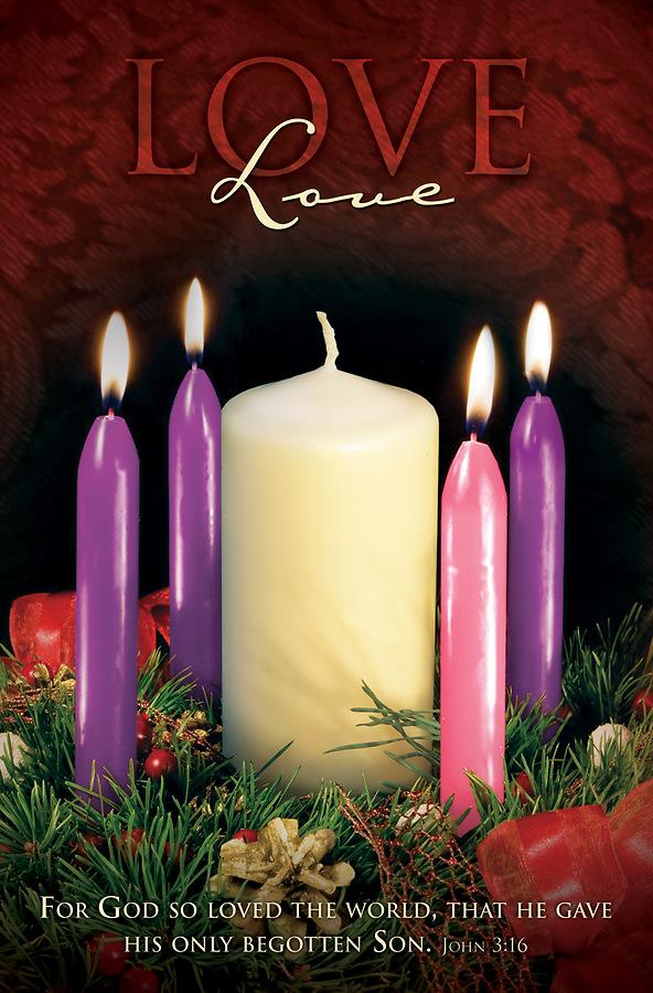 love advent week 4 regular size bulletin cokesbury. Black Bedroom Furniture Sets. Home Design Ideas