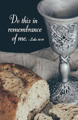 Do This Communion Bulletin Pkg Of 50 Cokesbury