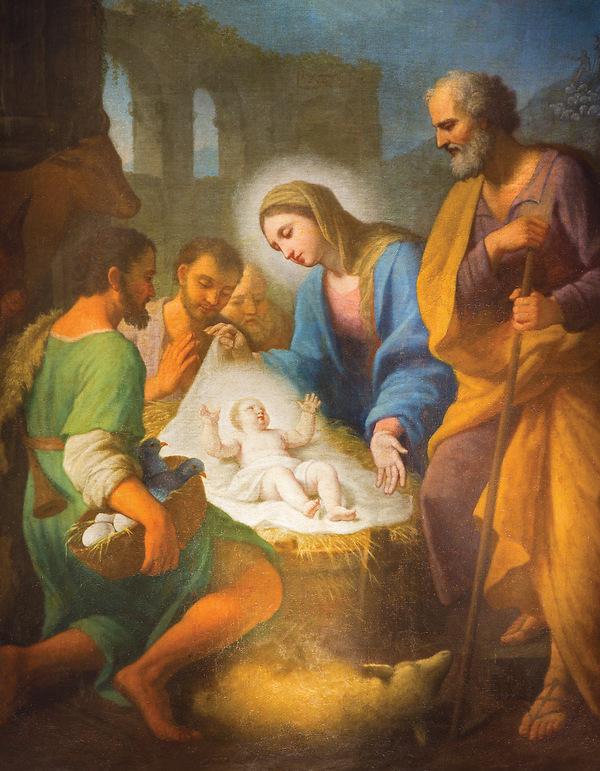 Christmas Jesus.Nativity Of Jesus Christmas Tabloid