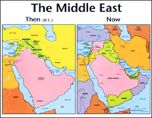 Middle East: Then And Now Bible Map® - Wall Map - Laminated