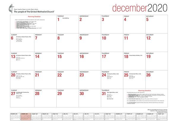 Official United Methodist Program Calendar 2021 | Cokesbury