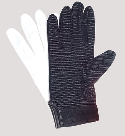 UltimaGlove With Plastic Dots Handbell Gloves - Black, XXL