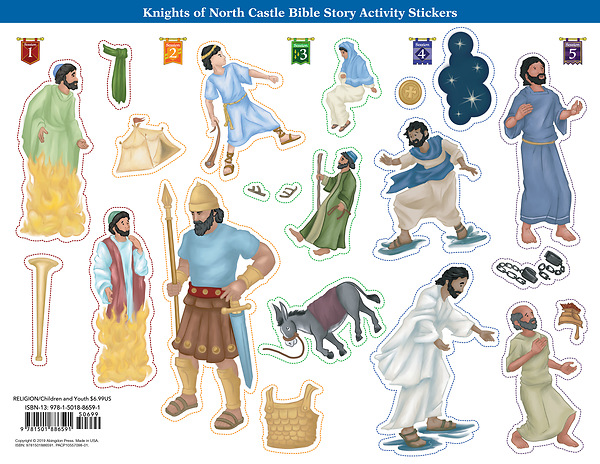 Vacation Bible School (VBS) 2020 Knights of North Castle Bible Story  Activity Stickers (Pkg of 6)