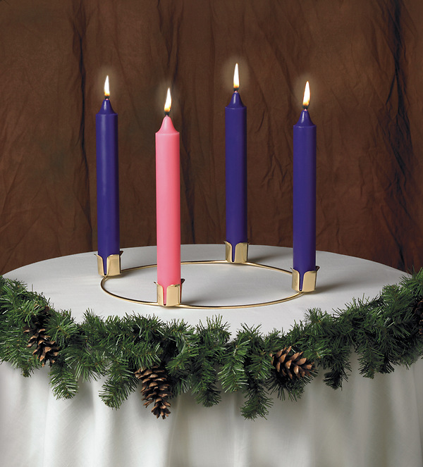 advent wreath and candle set cokesbury. Black Bedroom Furniture Sets. Home Design Ideas