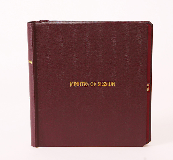 Minutes Of Session Small Church Edition Binder