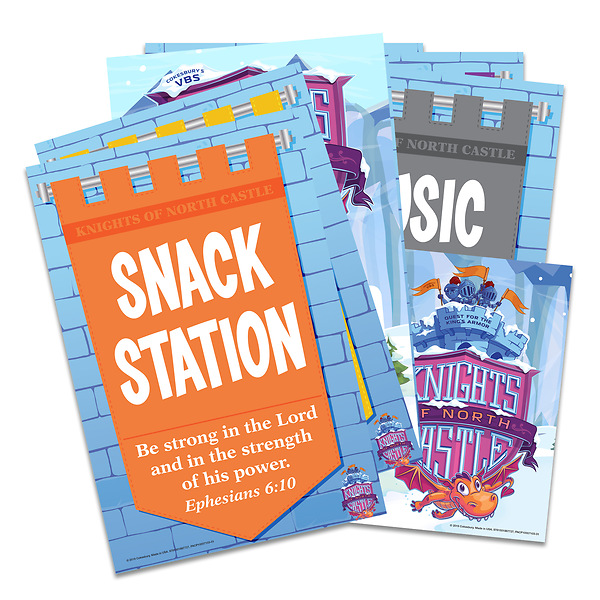 Vacation Bible School Vbs 2020 Knights Of North Castle Activity Center Signs Publicity Pak