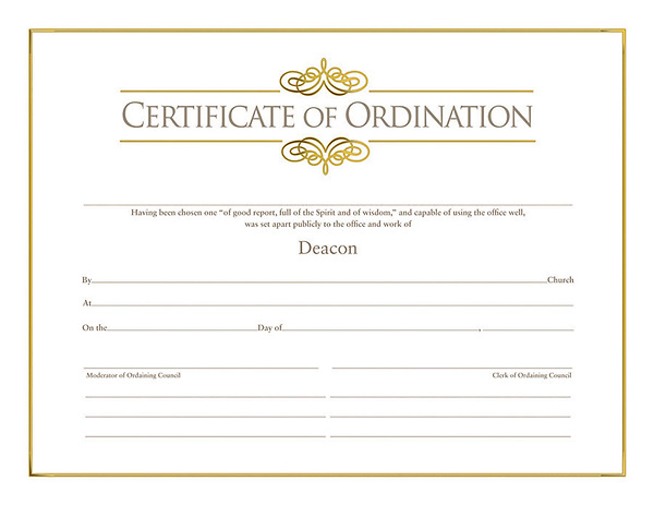 deacon ordination certificate template - ordination for deacon cokesbury