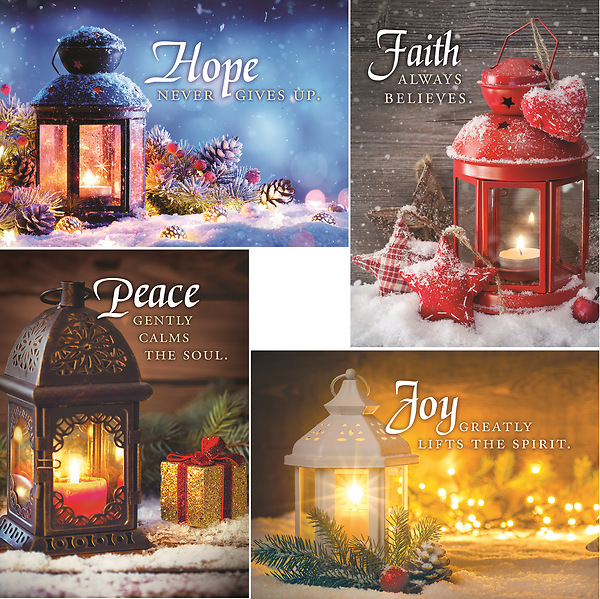 Christmas Lanterns.Christmas Lanterns Boxed Cards