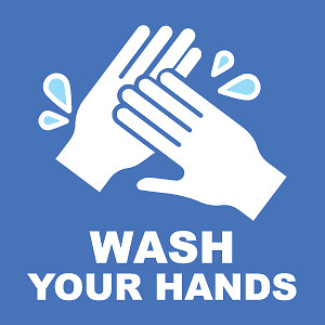 Wash Your Hands 9 X9 Wall Decal Sign 2 Pack Cokesbury
