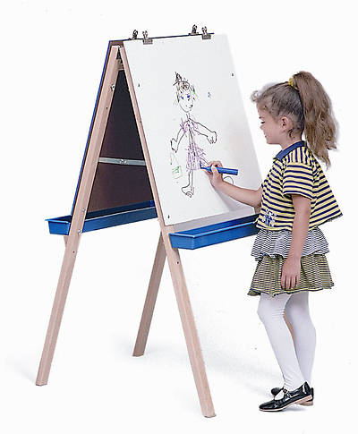 Picture of Adjustable Easel with Write & Wipe Boards