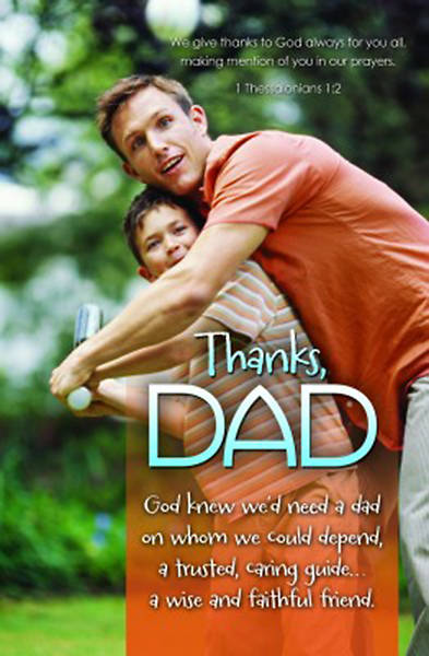 Fathers Day Bulletin, Thanks Dad, 1 Thessalonians 1:2, Regular (Package of 100)