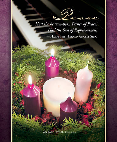 Picture of Peace Advent Legal Size Bulletin
