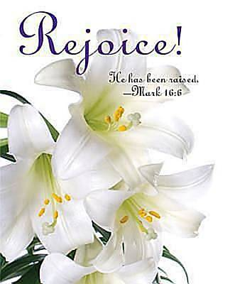 Rejoice! Easter Lilies Bulletin 2012, Large Size (Package of 50)