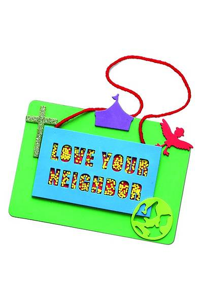 Vacation Bible School 2013 Everywhere Fun Fair Pkg of 12 Friendtastic Neighbor Plaque Craft Day 3 VBS