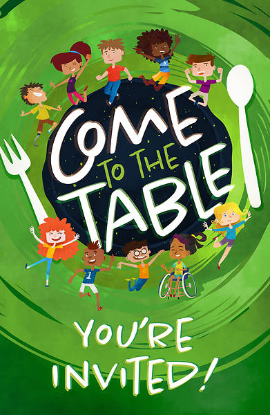 Picture of Vacation Bible School VBS 2021 Come to The Table PK 20 Invitation Postcards