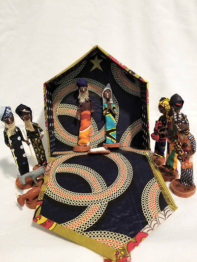 Picture of African Figurine Nativity Set in Box