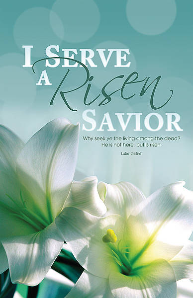 I Serve a Risen Savior  Easter Bulletin