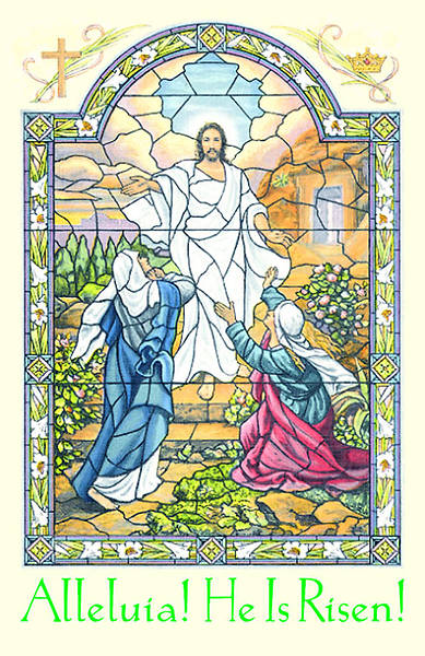 Easter Sunday Alleluia He is Risen Bulletin Regular (Package of 100)