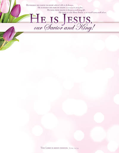 Easter He Is Jesus Letterhead (Package of 100)