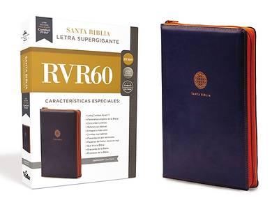 Picture of Rvr60 Santa Biblia Letra Supergigante, Leathersoft C/Cierre, Azul