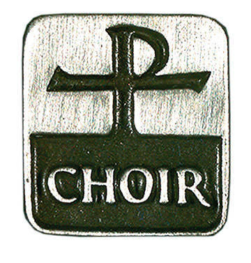Choir Pin Antiqued and Polished Pewter