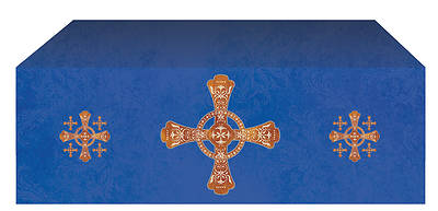 "Jerusalem Cross Economy Altar Frontal 48""D x 46""W Blue"