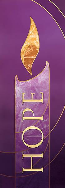 Picture of 2X6 Advent Banner HOPE Purple