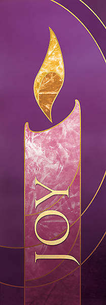 Picture of 3X9 Advent Banner JOY Purple