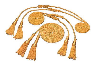 Gold Tassel and Cord  for 4 1/3 X  5 1/2 Flag