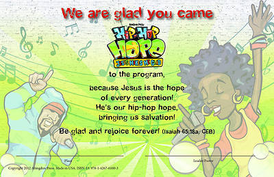 Vacation Bible School 2013 Hip-Hop Hope Pkg of 25 Student Certificate VBS