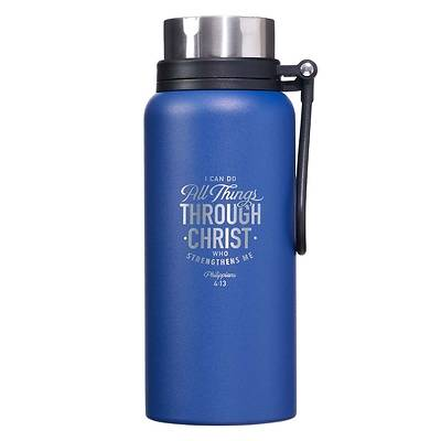 Picture of Stainless Steel Water Bottle All Things Through Christ Philippians 4