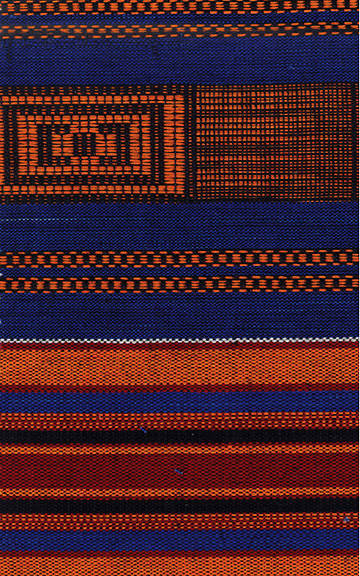 Stole Kente Blue, Rust, Gold, and Black 100 Inch