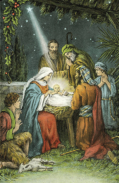 Picture of Christ the Savior is Born!- Christmas Bulletin, Regular Size Package of 100