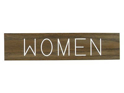 Women Formica Sign 2x8 with Adhesive Back