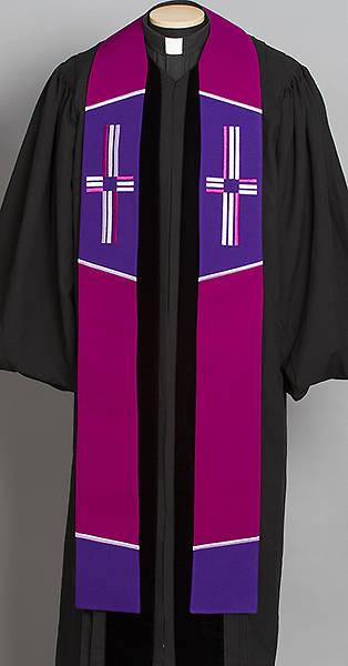 "Picture of Trinity Cross Stole Purple - 110"""