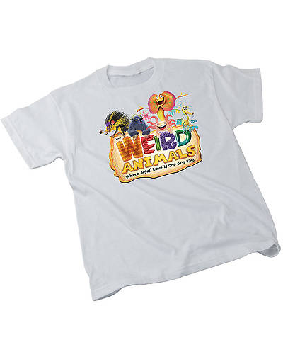 Group VBS 2014 Weird Animals T-shirt Child-White - Adult-Small