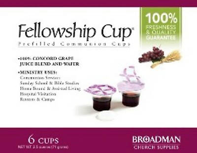Fellowship Cup Communion Wafer & Juice 6pk