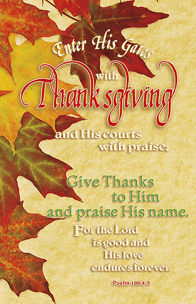 Thanksgiving and Praise Bulletin Regular