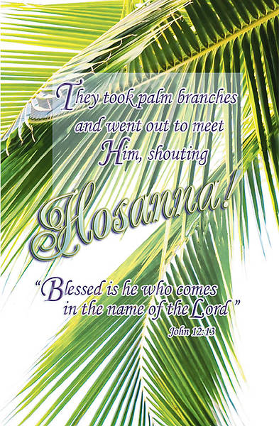 Palm Sunday John 12:13 Bulletin Regular (Package of 100)